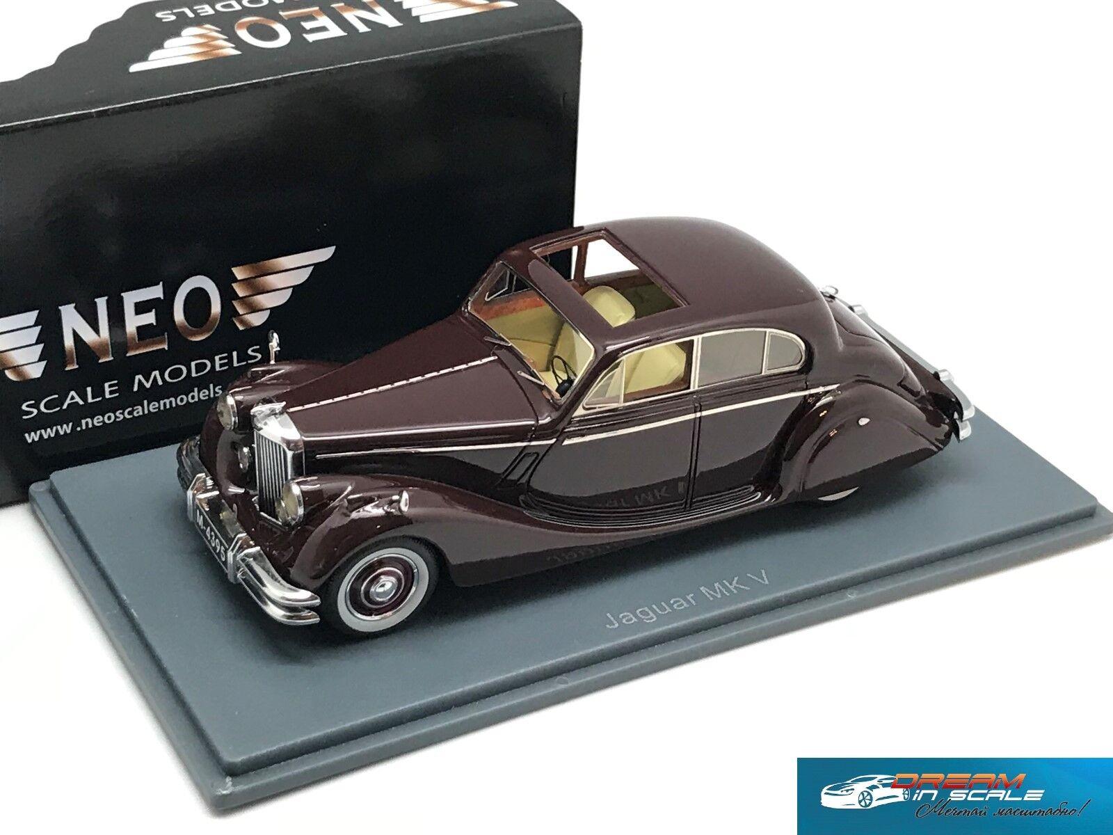 Jaguar mark v 1950 dunkle maroon neo43951 1 43