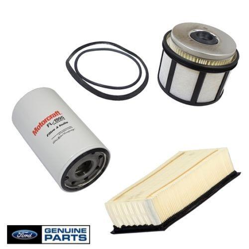 98-03 7.3L Ford Powerstroke Diesel OEM Motorcraft Oil,Fuel /& Air Filter 3489