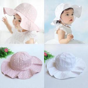 beb6420f Toddler Infant Kids Baby Girls Outdoor Beach Sun Cap Cotton Wide ...
