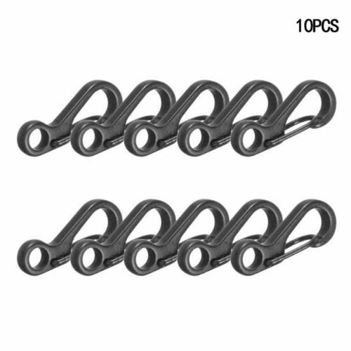 10pcs Mini Split Keychain Key Ring Snap Hook Carabiner Hanging Prof Buckles J2Z0