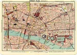 image is loading reproduction bartholemews 1900 map of east london a2