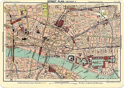 Reproduction Bartholemews 1900 Map of North East London  . A2 A3 A4 Sizes
