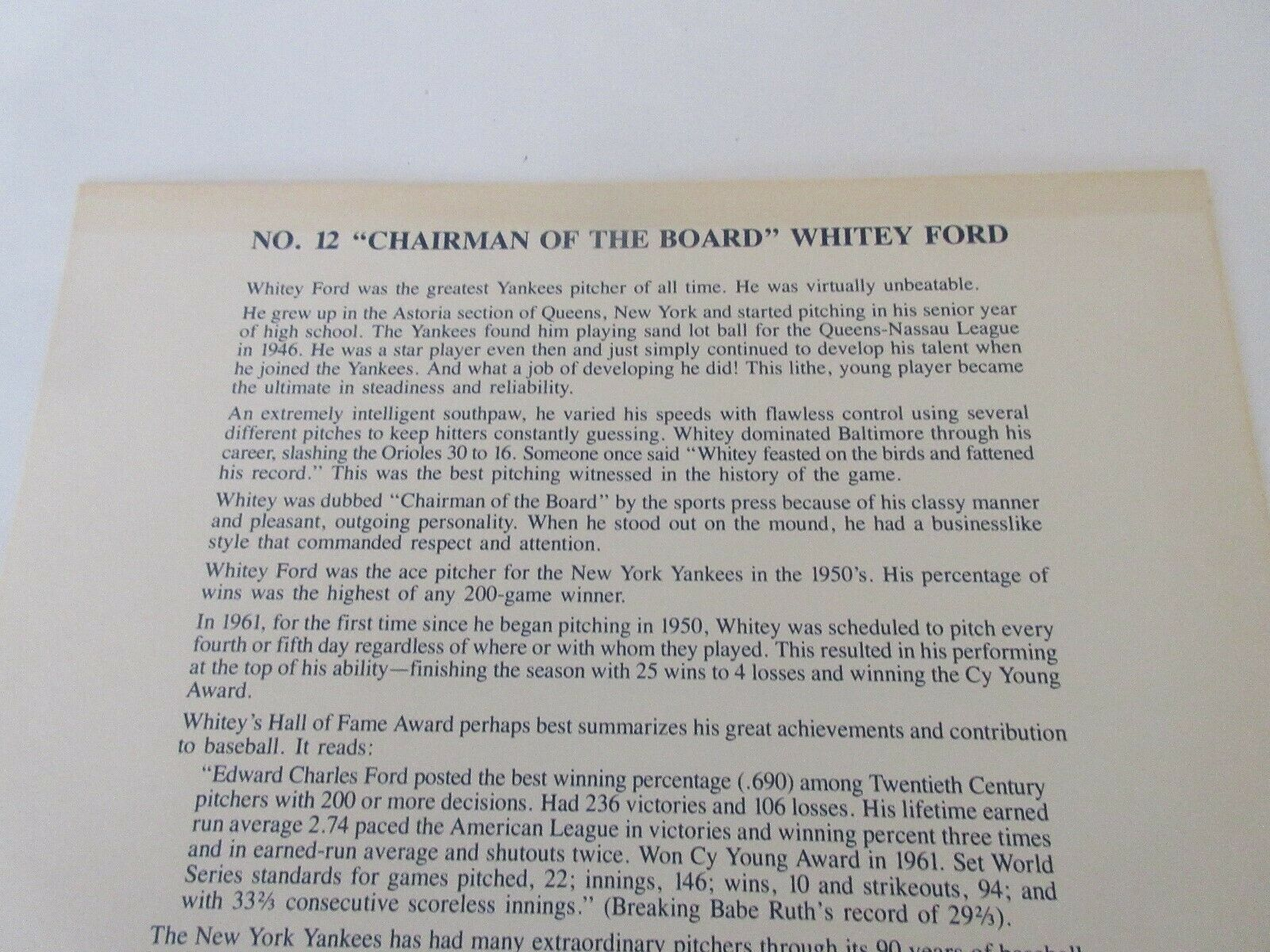 "Whitey Ford Poster , Product Exposure #12 , 1993 ,""Chai"