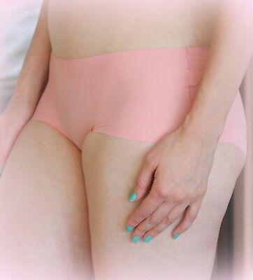 M /& S Size 10 NO VPL Laser Cut Low Rise Shorts panties Briefs Pink RRP £6.00