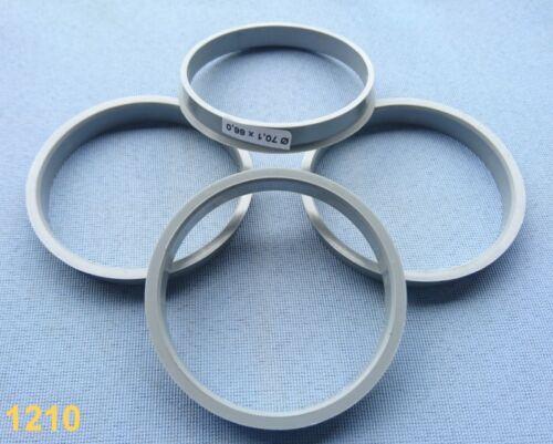 1210 4x anelli di centraggio reduzierringe 70,0//66,1 mm grigio per cerchi in lega