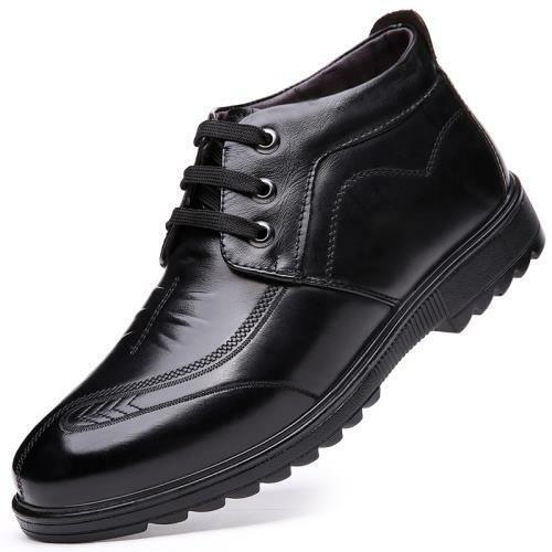Details about  /38-44 Men Faux Leather Dress Formal Business Shoes Fur Inside Warm Work Casual L