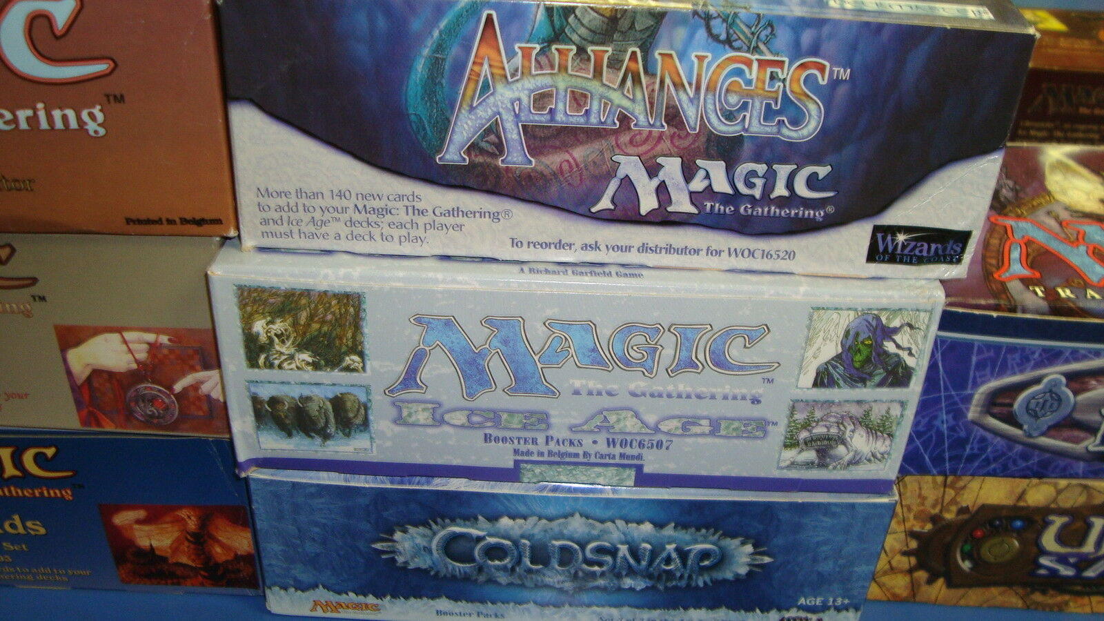 Magic the Gathering Mtg Empty Ice Age Alliances Coldsnap Booster boxes