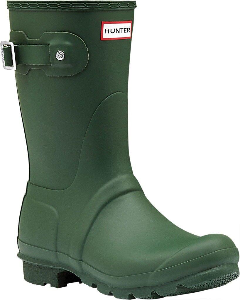 Hunter Original Short Rain Boot (Women's) in Hunter Green - NEW - 140