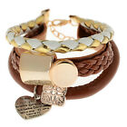 Neu Damen Armband Schmuck Leder Unendlichkeit Stulpe Armband Geschenk