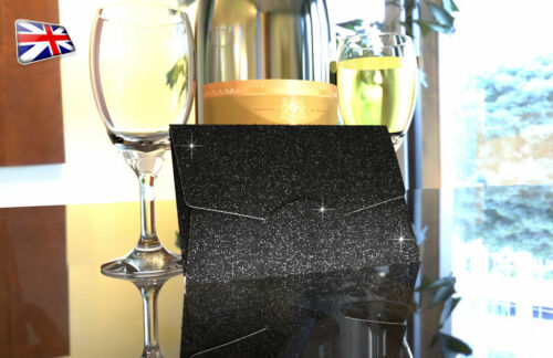 Glitter Envelope Money Gift Xmas Wedding Favour Cash Wallet Shagun ~ Black
