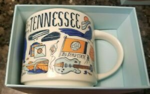 New Starbucks Tennessee Coffee Mug Been There Series Across the Globe in box