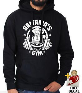 405c2fa7 Funny Saitama Gym hoodie One punch man Genos Hero Black Anime jumper ...