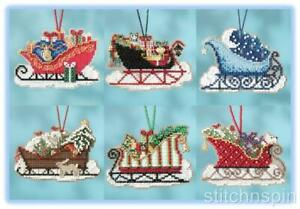 MILL-HILL-beaded-ornament-kits-SLEIGH-RIDE-CHARMED-ORNAMENT-COLLECTION