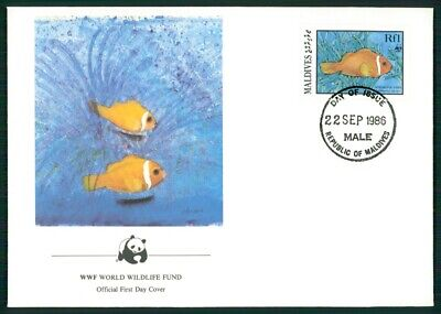 Genial Malediven Schmuck-fdc 1986 Wwf Fauna Fische Fish Anemonenfisch Anemonefish El96