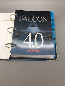 Falcon-4-0-Microprose-Binder-Flight-Simulator-Manual-Only-No-Game-D06