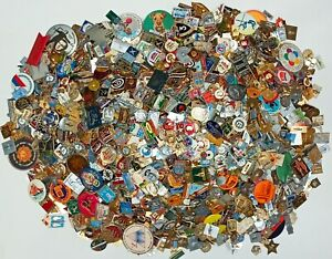 Set-100-Pcs-de-Lot-collection-russe-sovietique-badge-BROCHE-VINTAGE-URSS-Russie