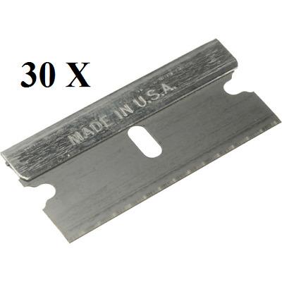 30pc Single Edge Industrial Razor Blades New