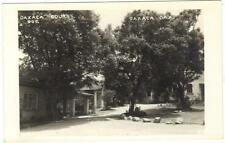 Motel OAXACA Courts Now Misión de los Angeles MEXICO 1940s Real Photo Postcard