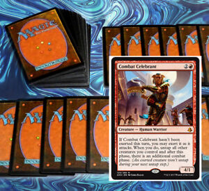 mtg-RED-GREEN-AGGRO-DECK-Magic-the-Gathering-60-cards-AMON-combat-celebrant