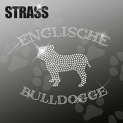 DEUTSCHE DOGGE Strass Applikation Hund Strassbild Bügelbild HotFix ca 20x17cm