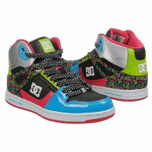 DC Shoes Rebound High Hi Donna skate shoes 8 NEW