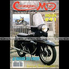 CHRONIQUES MOTO N°37 INDIAN 841 SUZUKI GT 750 K GODET VINCENT TERROT MGC 500 N3A