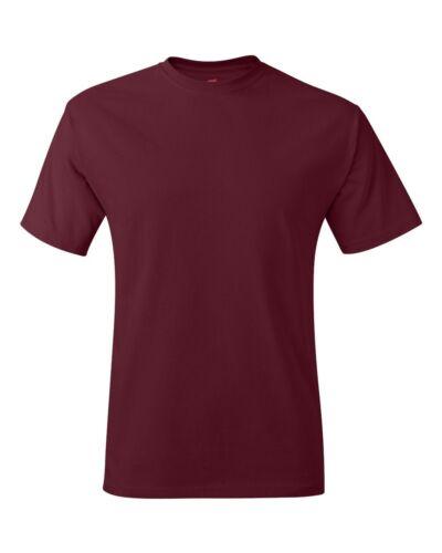 Hanes Men/'s Tagless Comfort T-Shirt Heavyweight 100/% Cotton Plain Basic Tee 5250