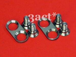 4pcs M5 x 12 Titanium Ti Screw Bolt Allen Hex Socket Flat Head for SPD Cleats