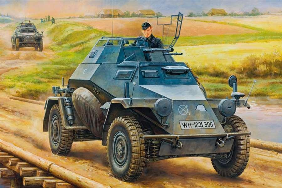 Trumpeter German Leichter Panzerspahwagen Mid Ver 1 35 Model Armored Car 80149