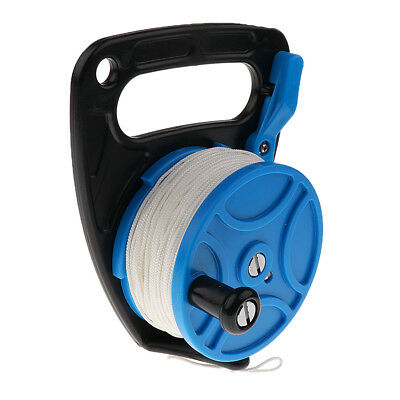 Scuba Diving Dive Ratchet Reel 272ft 83m with Thumb Stopper and White Line