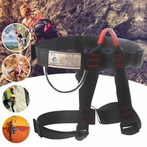 Thicken-Climbing-Harness-Waist-Safety-Wider-Half-Body-Rock-Climbing-Rappelling