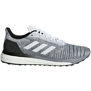 Mens-Adidas-Solar-Drive-Grey-Athletic-Running-Sport-Shoes-AQ0337-Size-10-5-13