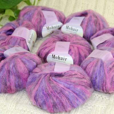 Sale New 8BallsX25g Warm Mohair Sweater Wrap Shawl Hand Knit Crochet Yarn 25
