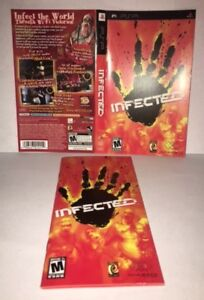 infected psp original replacement artwork manual ebay rh ebay com PSP AC Adapter Manual Sony PSP Manual English