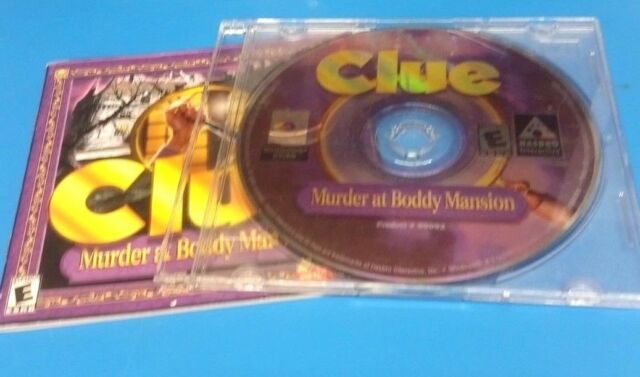 Clue: Murder at Boddy Mansion (PC)(DISC AND MANUAL ONLY)(VG CONDITION) #12522