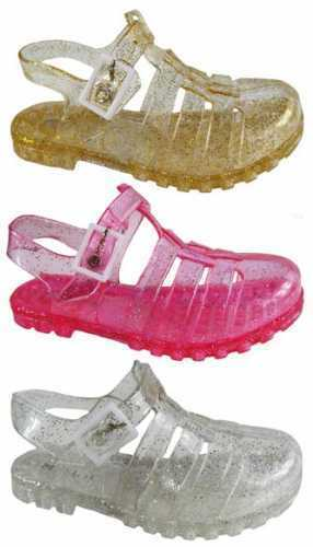 GIRLS KIDS CHILDREN FLAT SUMMER BEACH JELLY SANDALS FLIP FLOPS SHOE SIZES 4 TO 2