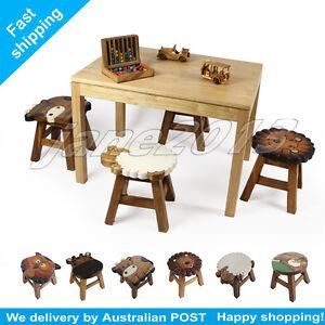 NEW-OSAKA-Kids-Wooden-Stool-Sheep-dog-owl-lion-giraffe-dreaming-girl-Xmas-gift