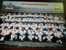 NY Mets 1986-2006 20th Anniversary World Series Champ Poster Print Shea Giveway