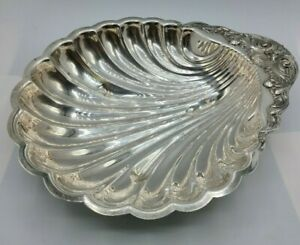 Vintage-FB-Rogers-Silver-Co-Shell-Scallop-12-034-Platter-Dish-Silver-Plate
