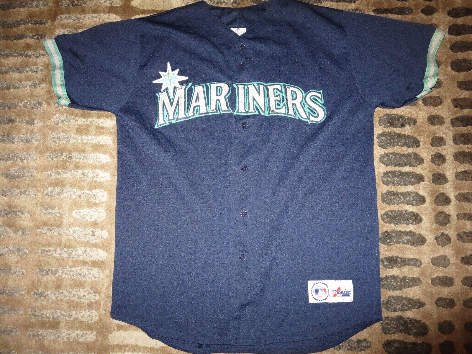 Seattle Mariners L Majestic Majestic Premier Sewn MLB Jersey LG L Mariners Uomo 2f92ef