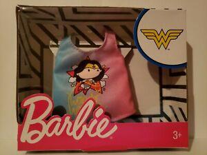 NEW 2019 BARBIE DC COMICS SUPER HERO  WONDER WOMAN TOP  for Barbie doll