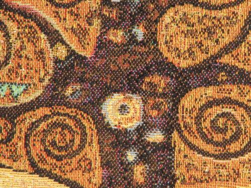 """GUSTAV KLIMT TREES OF LIFE V2 28/"""" 70CM FULLY LINED BELGIAN TAPESTRY WALL HANGING"""