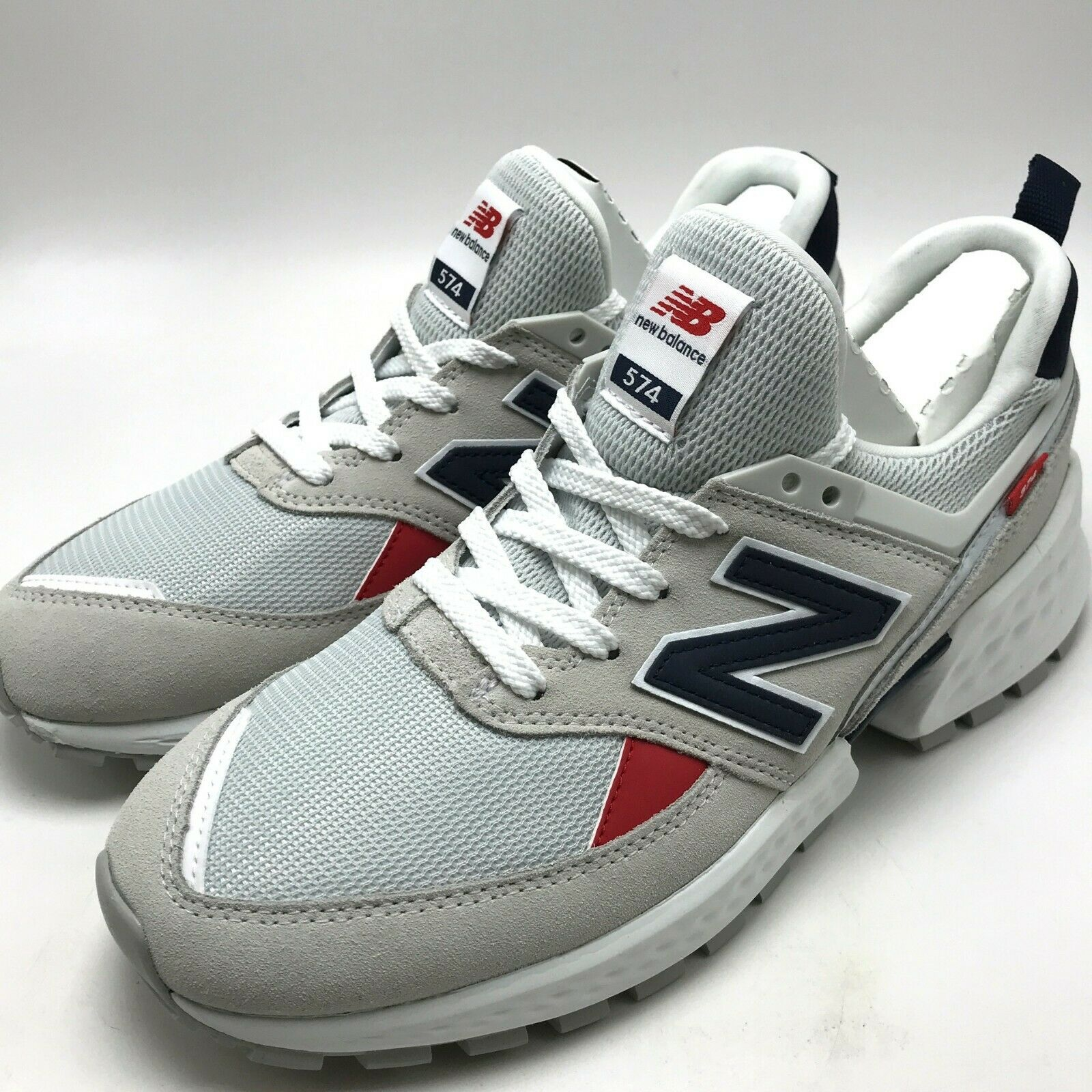 New Balance Lifestyle Men's Sport shoes White Navy Red  MS574GNC