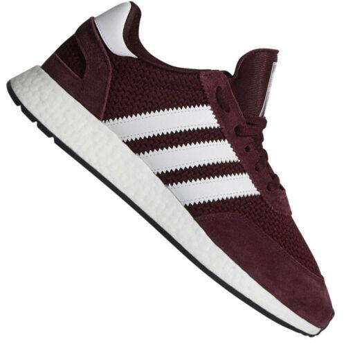 adidas Iniki Runner Herren I-5923 Sneaker Boost Sohle Turnschuhe Maroon Weinrot