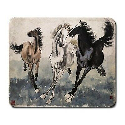 The Three Stallions Chinese Horse Art Mouse Pad MP1058