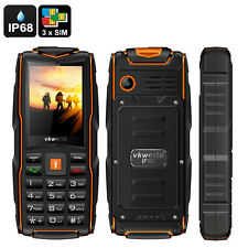 VKWorld New Stone V3 GSM Cell Phone - 3x SIM Card Slot, Flashlight, Power Ban...