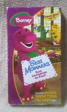 Barney Best Manners Your Invitation to Fun VHS Video Tape Never Seen on TV 2003