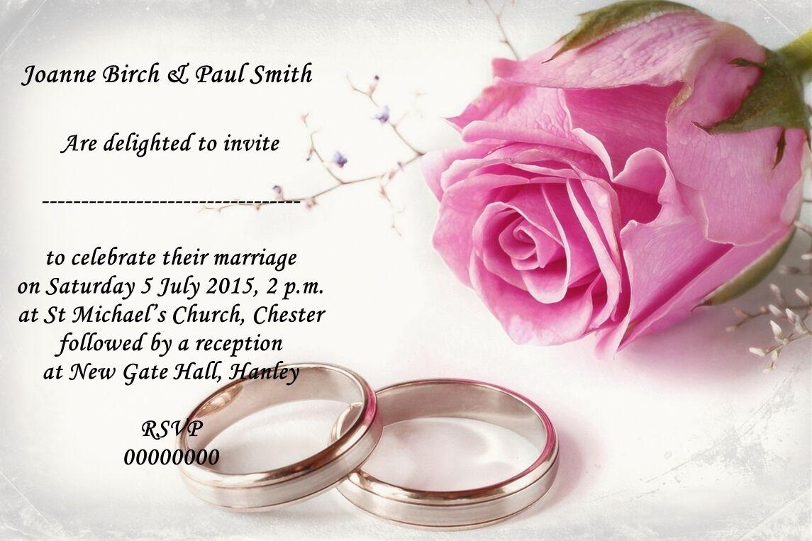 VINTAGE Personalizzato Personalizzato Personalizzato rosa rosa Cerimonia Inviti Con Buste 1f1516