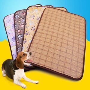 Soft-Velvet-Paw-Print-Cage-Pad-Bed-Cushion-Dog-Cat-Animal-Pet-Blanket-Mat-Nest
