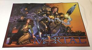 1997-Comics-Promo-Poster-mas-que-Mortal-22x34